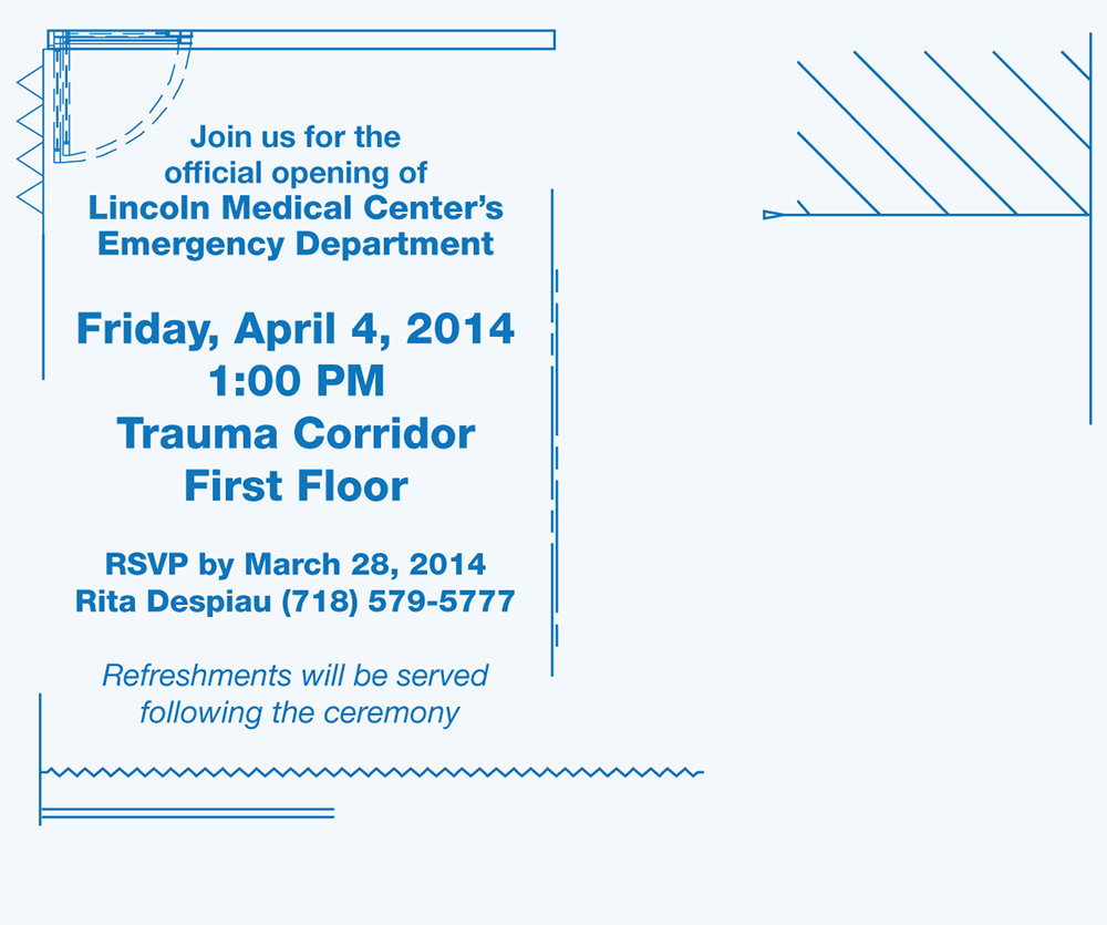 Emergency Department Ribbon Cutting Invite Back