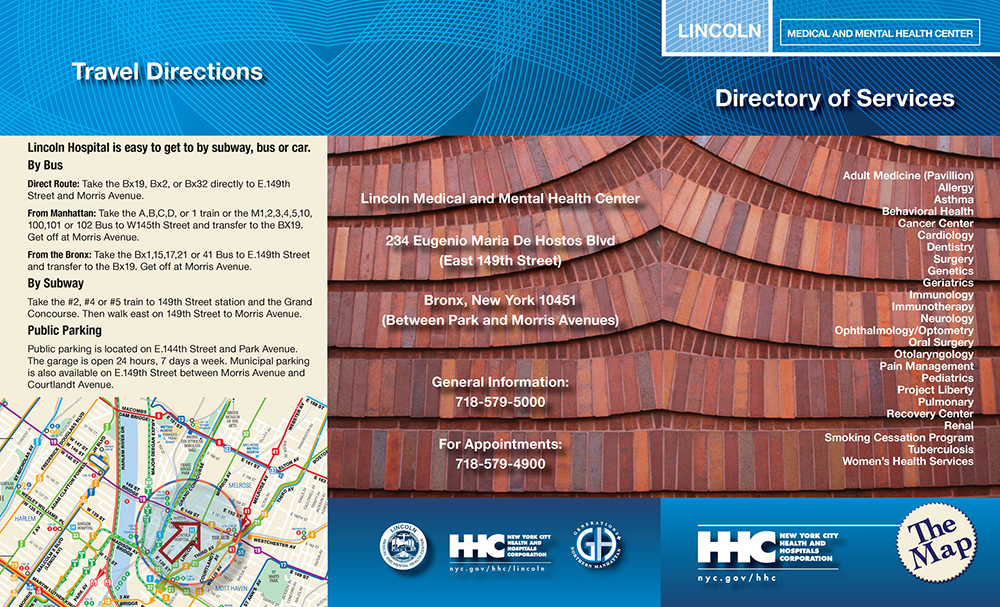 Lincoln Medical Center Directory and Floorplan Cover